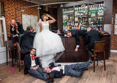 Any & Jenny take five minutes out from the wedding fun at Warbrook House