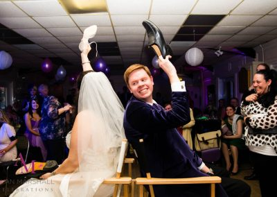 David & Leanne having fun with the shoe game at The Riverside Club, St Denys, Southampton_