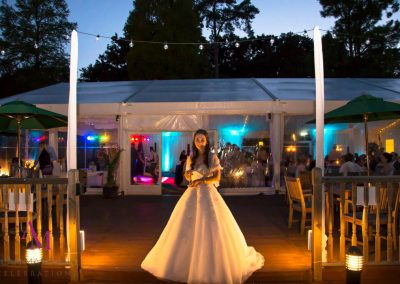 Lucy Bosher Wedding evening lighting Warbrook House