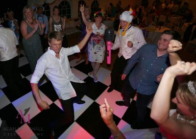 Luke rocking the dance floor at his & Keira's Marquee Wedding