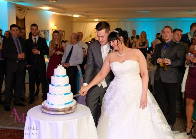 Phillip & Roxane cake cutting ceremony Highfield Park