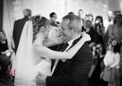 Stephanie & dad enjoy a special moment during the Father Daughter Dance at Highfield Park