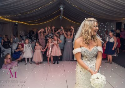 Bride-Louisa's-Bouquet-Toss-at-Warbrook-House