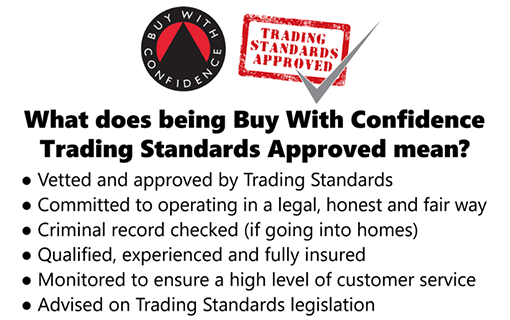Trading Standards Buy With Confidence Bullet Point info